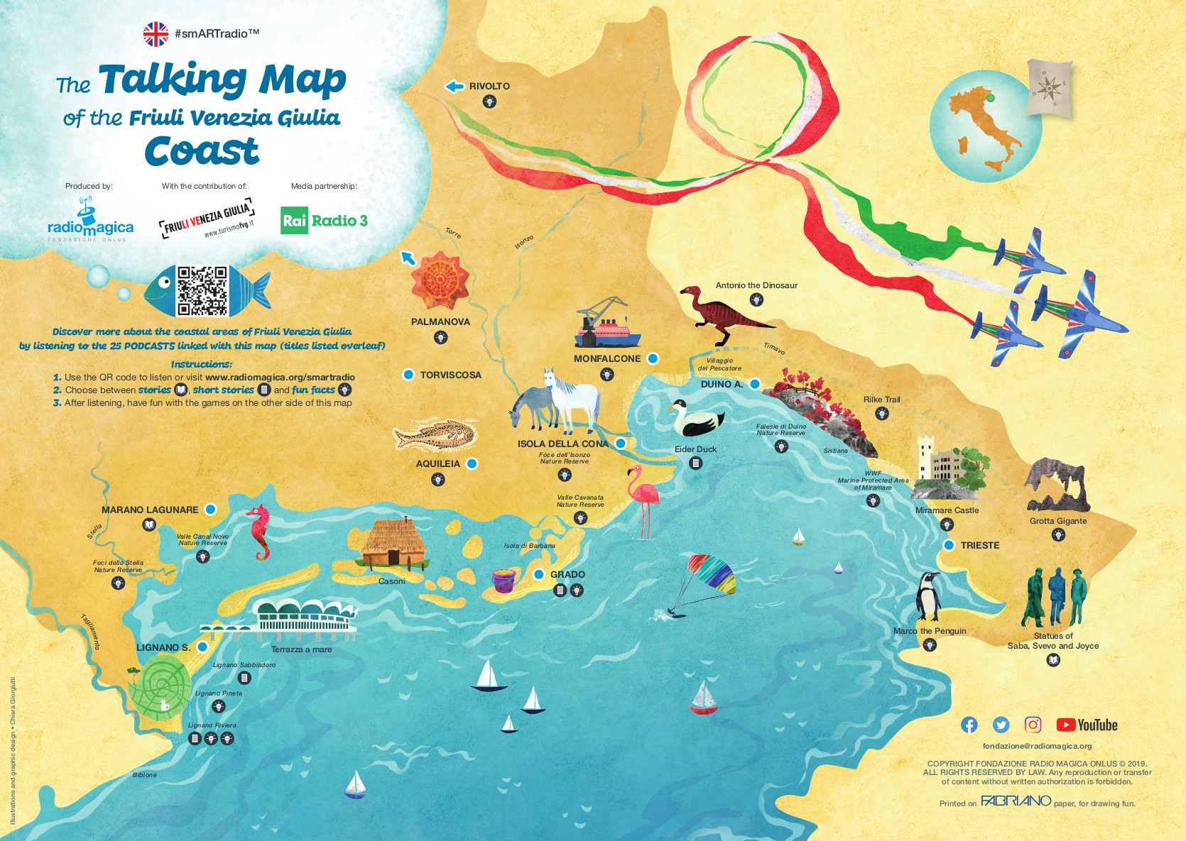 The Talking Map of the Friuli Venezia Giulia Coast - front