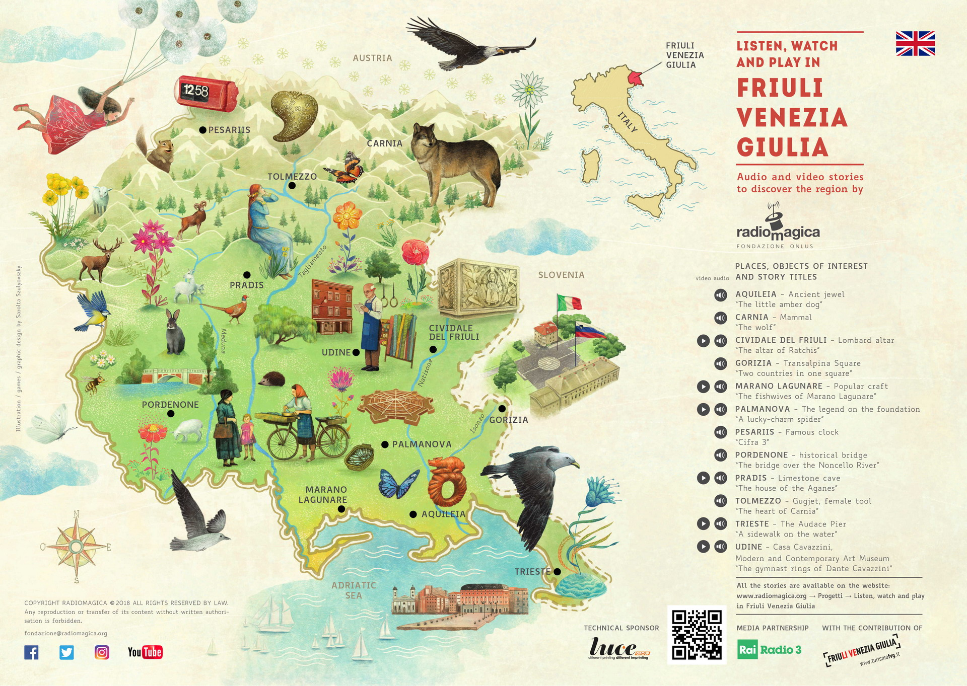 Listen, watch and play in Friuli Venezia Giulia - front
