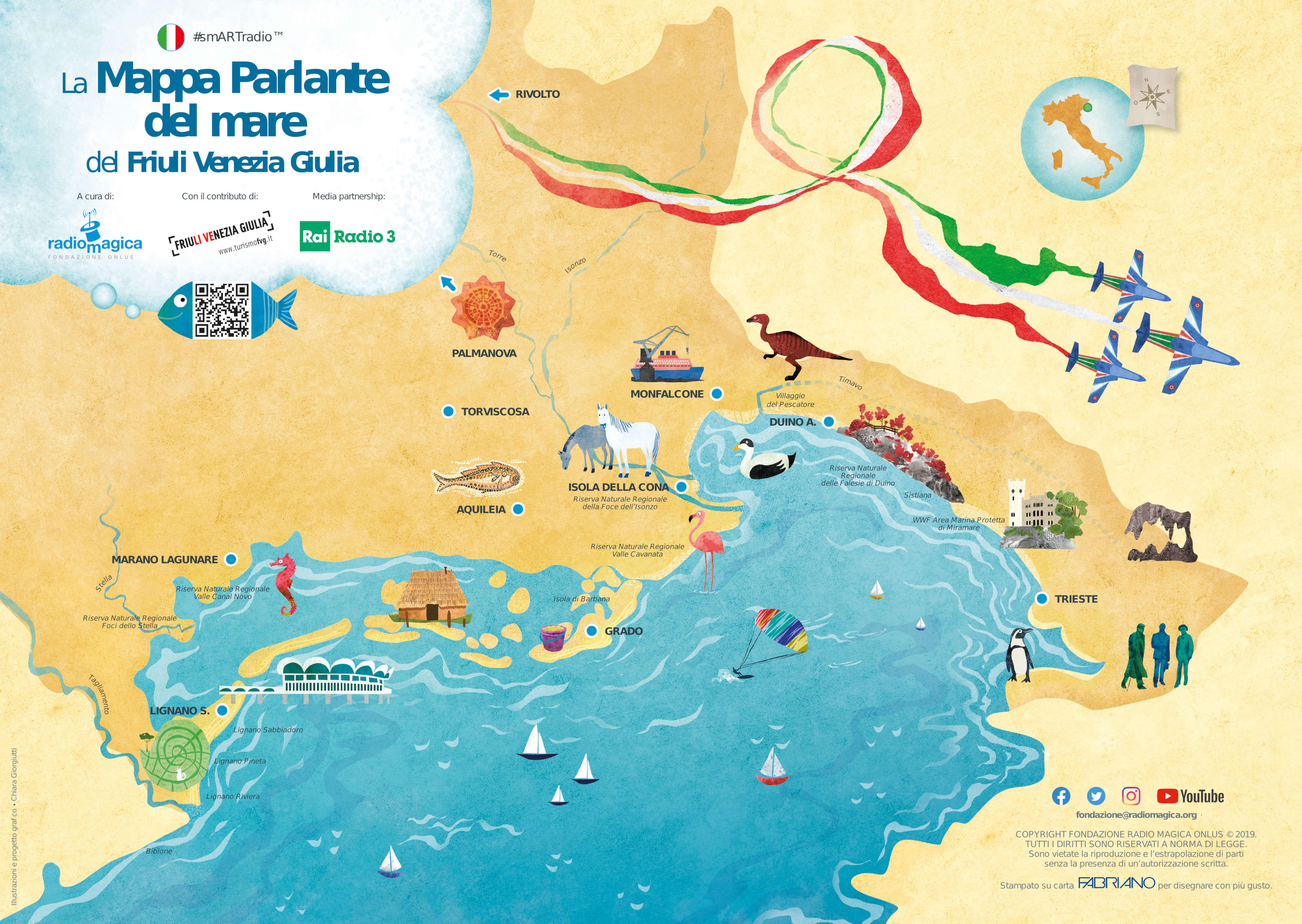 Cartina Friuli Venezia Giulia.La Mappa Parlante Del Mare Del Friuli Venezia Giulia Smartradio Radio Magica